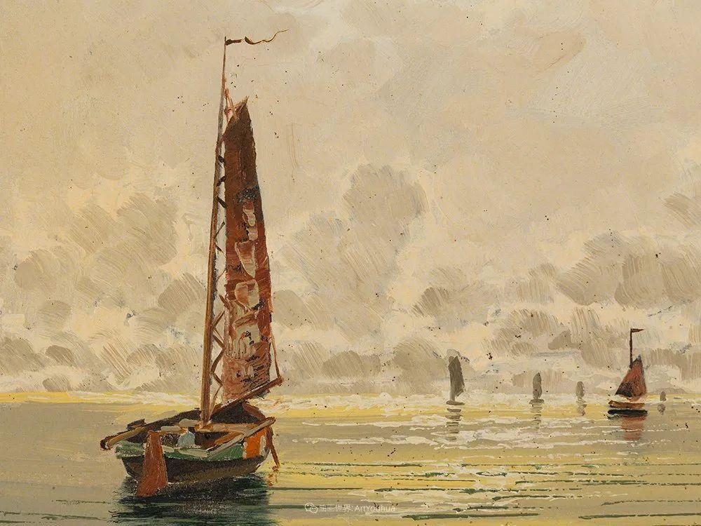 海景里的光,德国画家恩斯特·莫洛瓦纳插图16