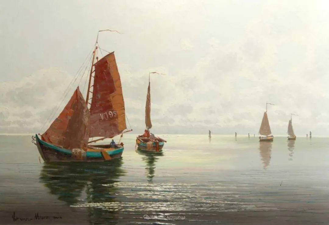 海景里的光,德国画家恩斯特·莫洛瓦纳插图18