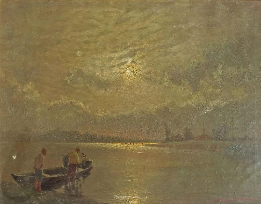 海景里的光,德国画家恩斯特·莫洛瓦纳插图19