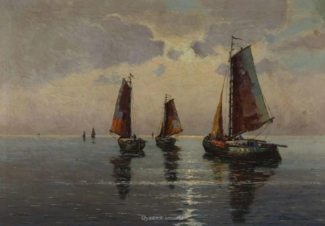 海景里的光,德国画家恩斯特·莫洛瓦纳插图20
