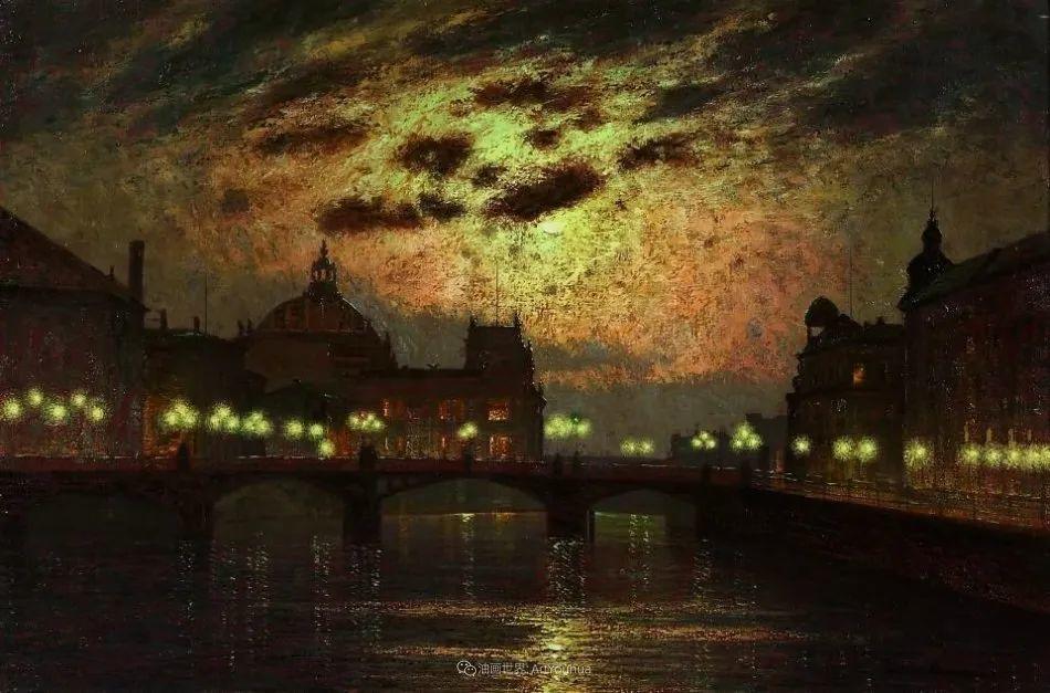 海景里的光,德国画家恩斯特·莫洛瓦纳插图21