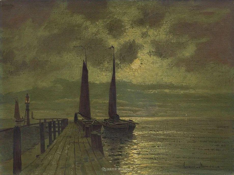 海景里的光,德国画家恩斯特·莫洛瓦纳插图22