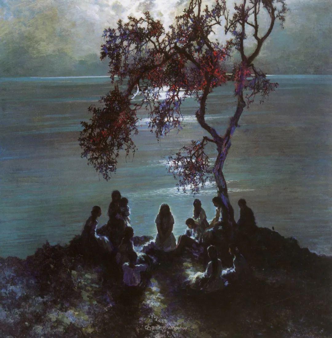 海景里的光,德国画家恩斯特·莫洛瓦纳插图23