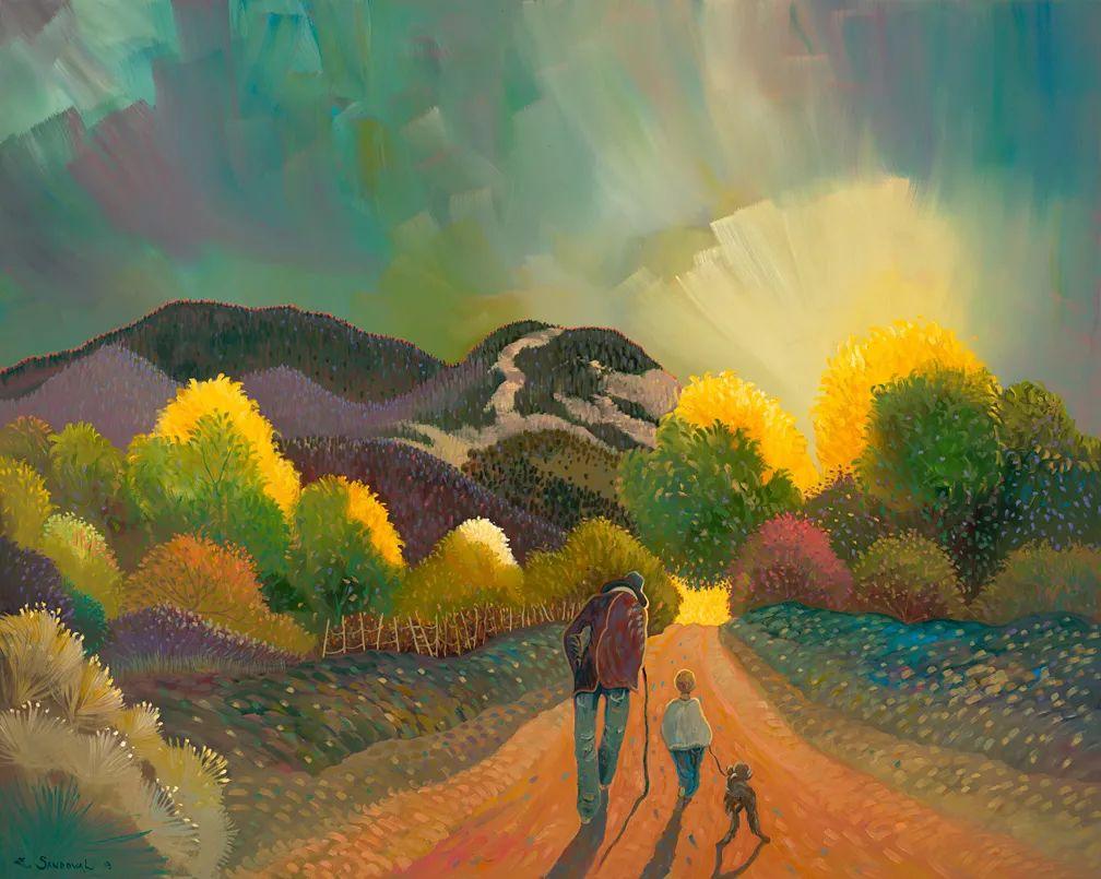 太美了,印象派和表现主义描绘的乡村景色插图1