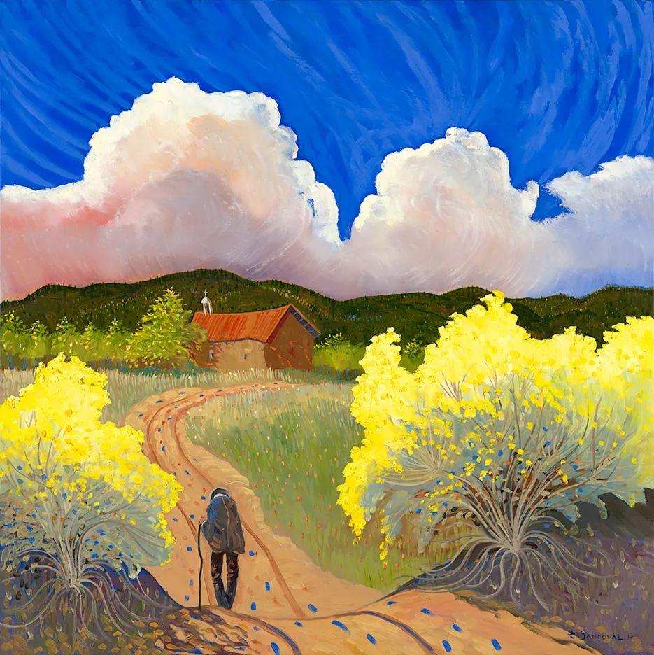 太美了,印象派和表现主义描绘的乡村景色插图3