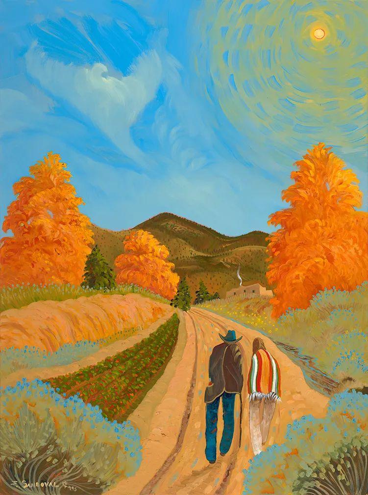 太美了,印象派和表现主义描绘的乡村景色插图13