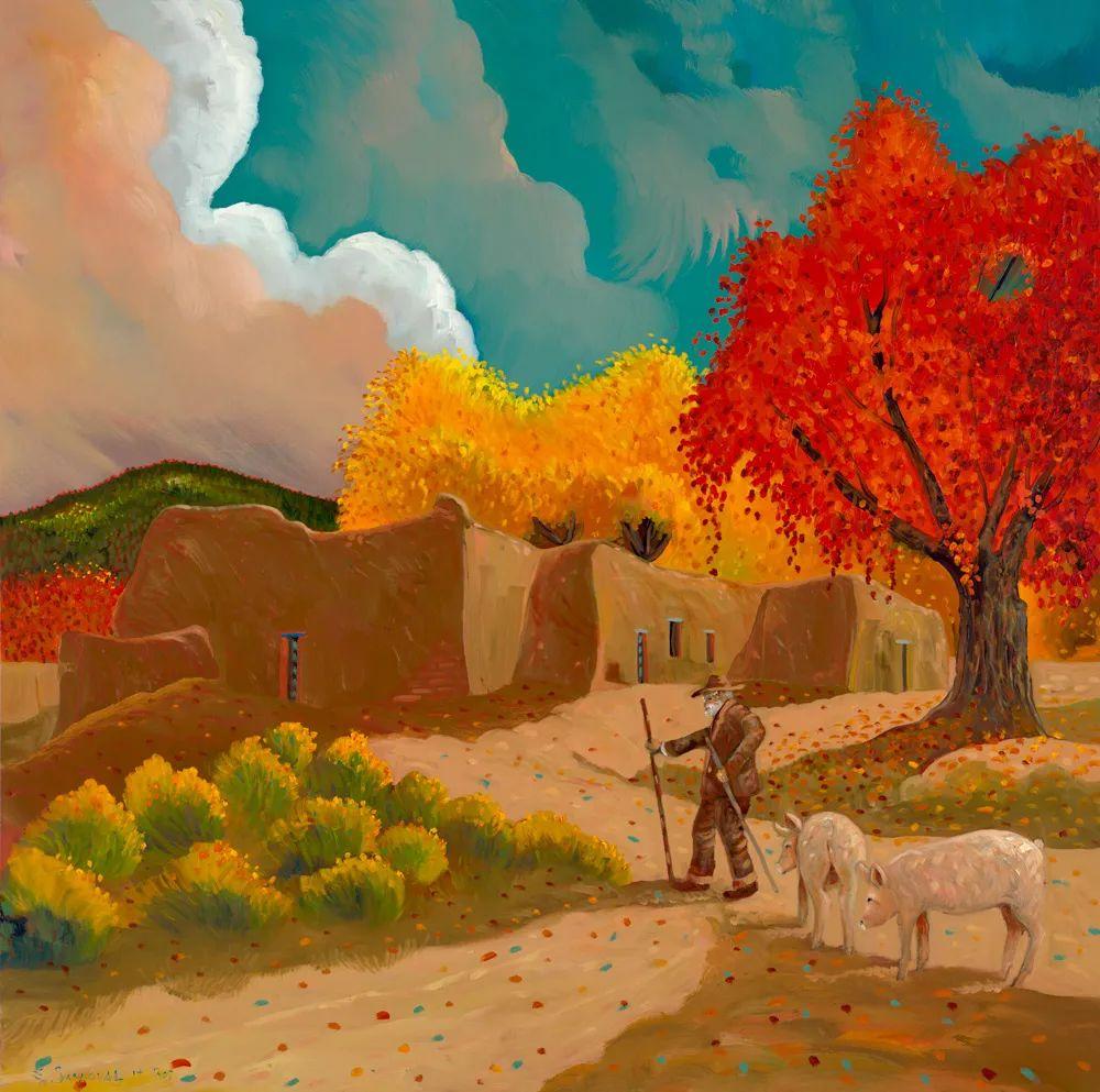 太美了,印象派和表现主义描绘的乡村景色插图15