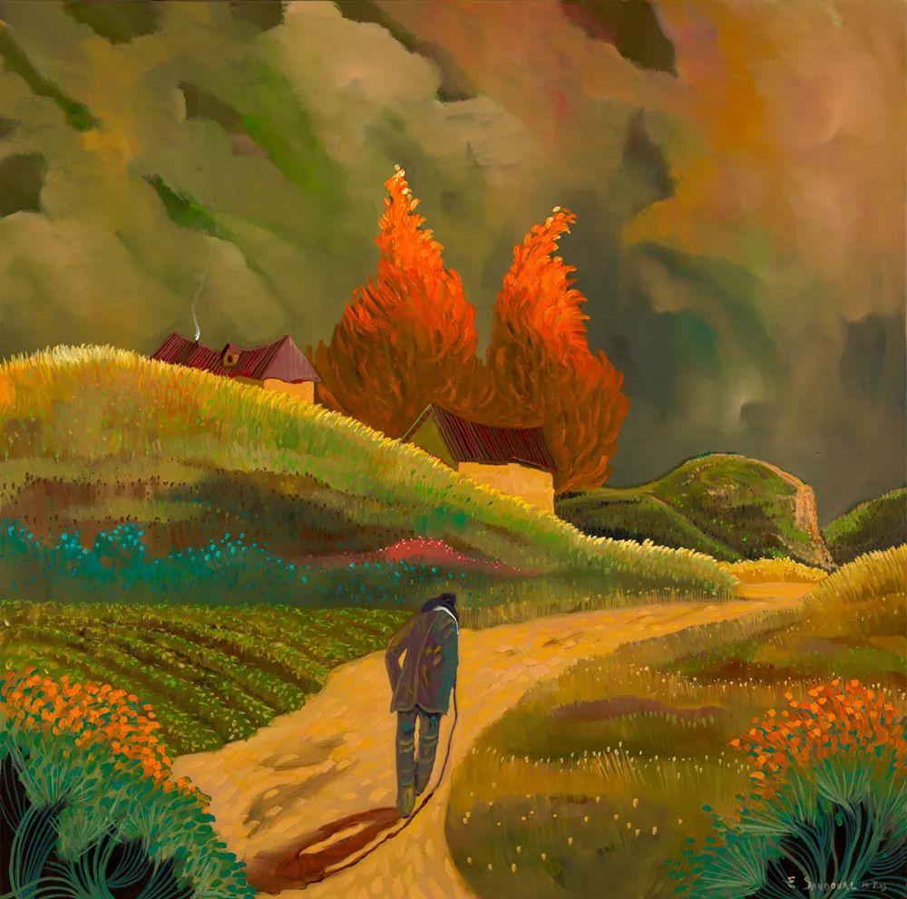 太美了,印象派和表现主义描绘的乡村景色插图19