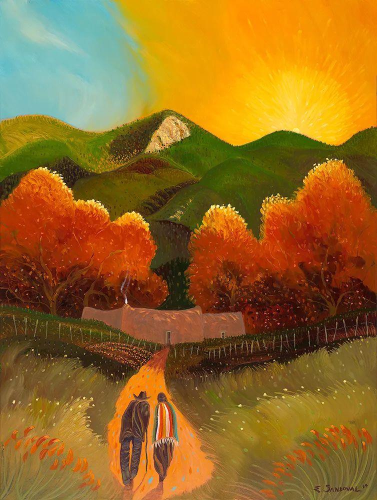 太美了,印象派和表现主义描绘的乡村景色插图21