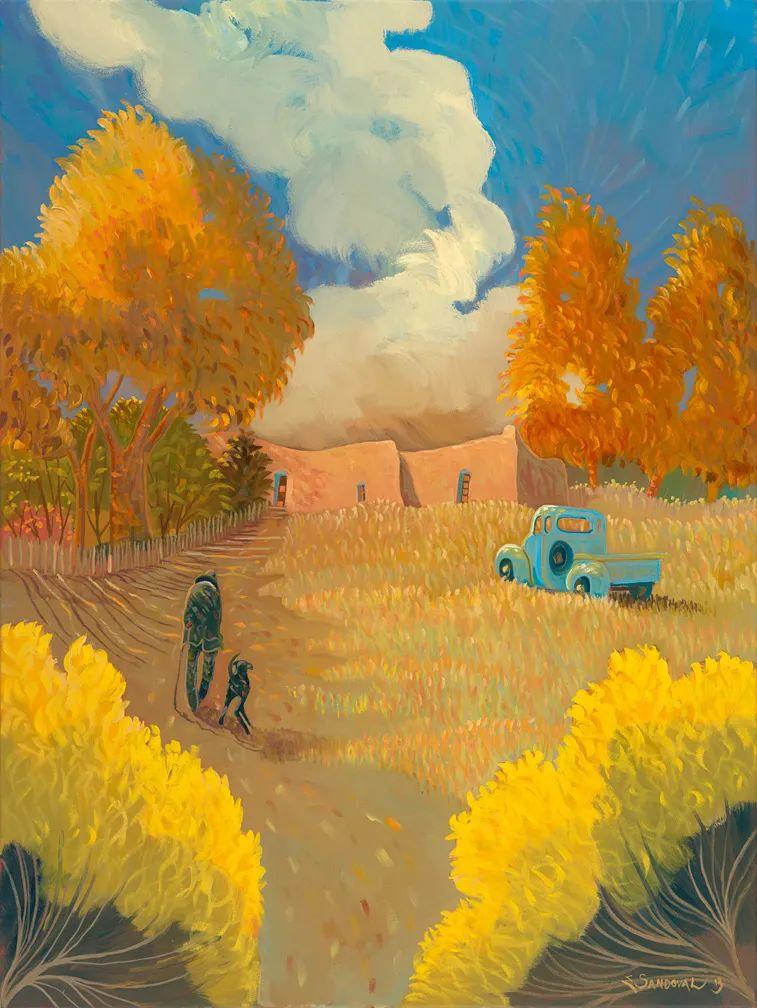 太美了,印象派和表现主义描绘的乡村景色插图27