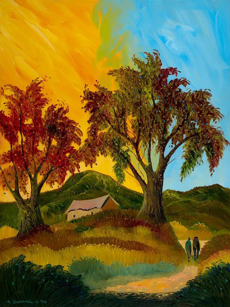 太美了,印象派和表现主义描绘的乡村景色插图31