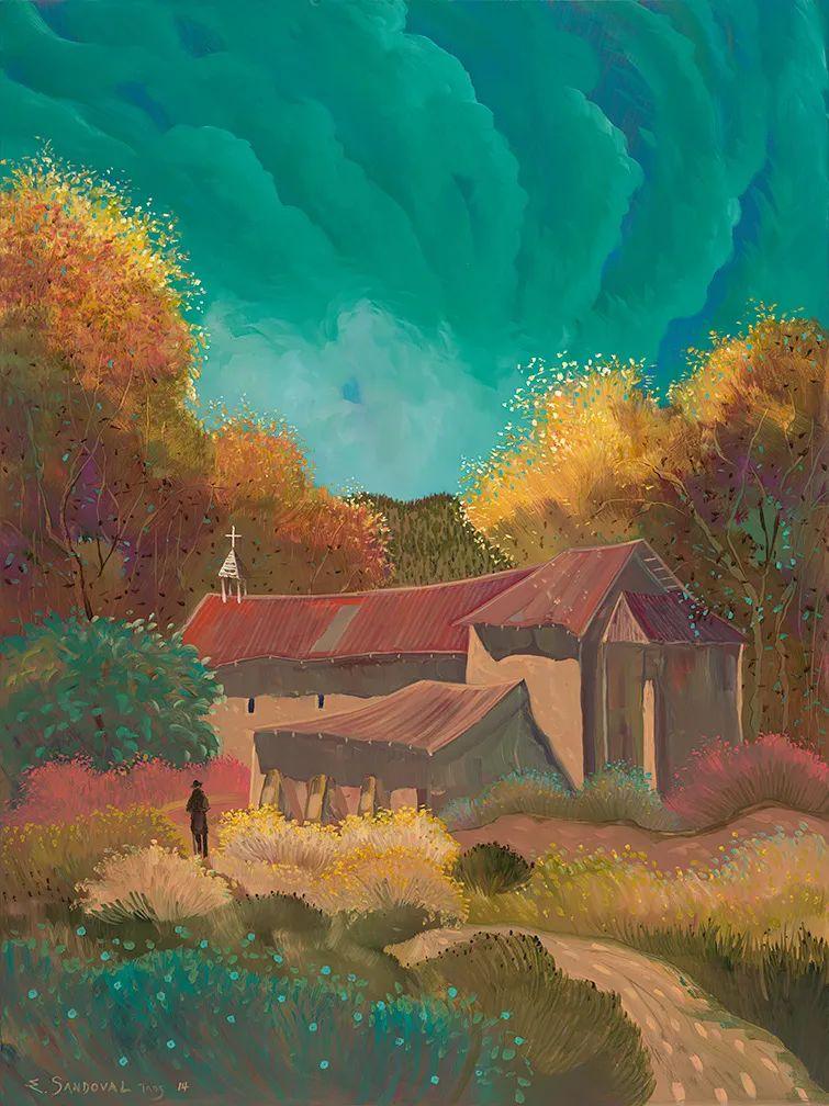 太美了,印象派和表现主义描绘的乡村景色插图33