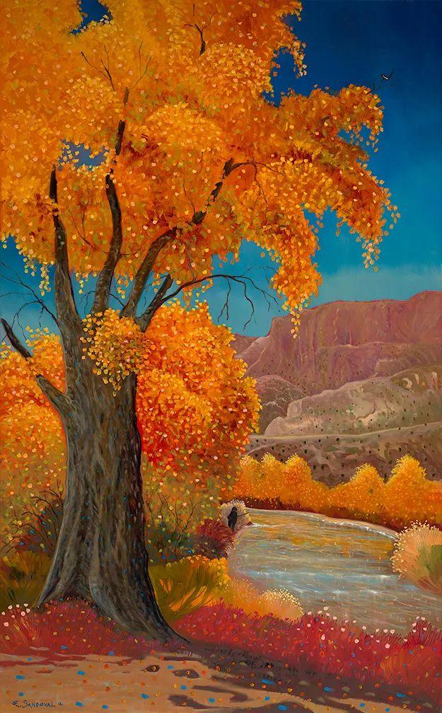 太美了,印象派和表现主义描绘的乡村景色插图35