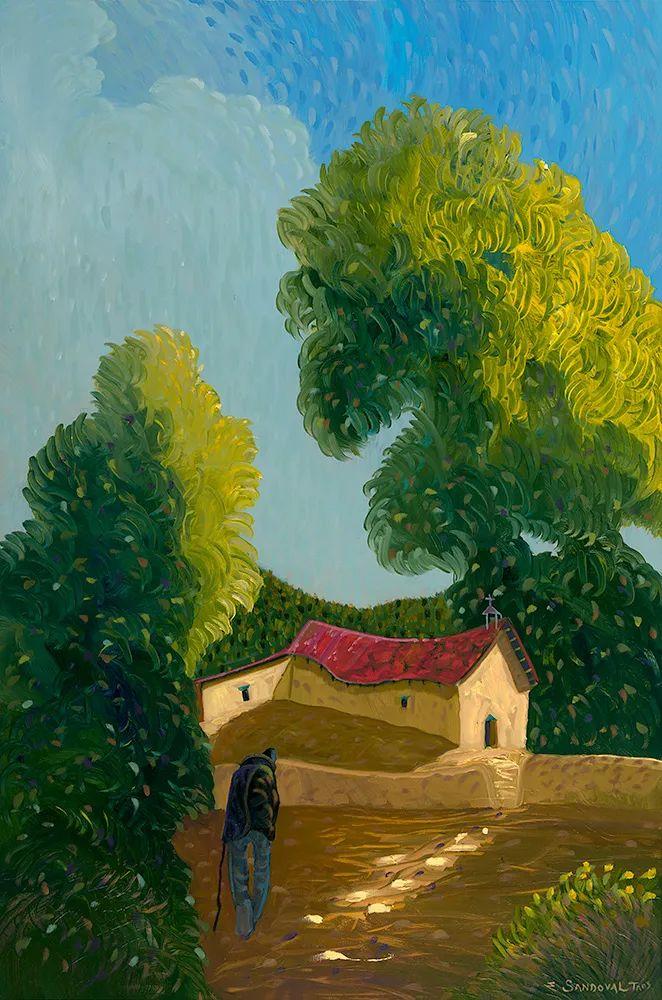 太美了,印象派和表现主义描绘的乡村景色插图37
