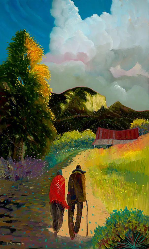 太美了,印象派和表现主义描绘的乡村景色插图39
