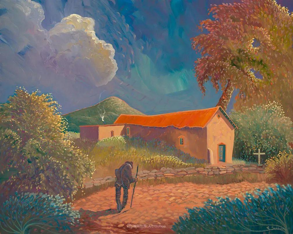 太美了,印象派和表现主义描绘的乡村景色插图43