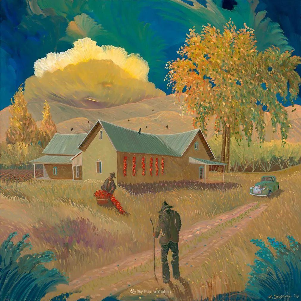 太美了,印象派和表现主义描绘的乡村景色插图45