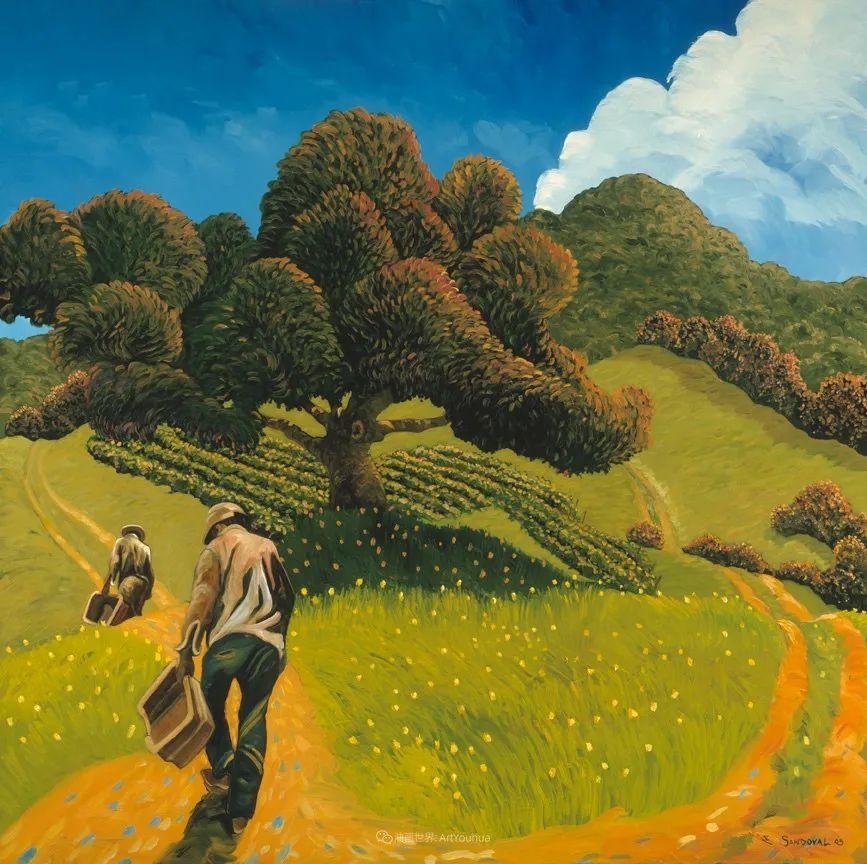 太美了,印象派和表现主义描绘的乡村景色插图49