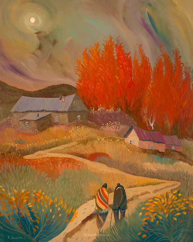 太美了,印象派和表现主义描绘的乡村景色插图51