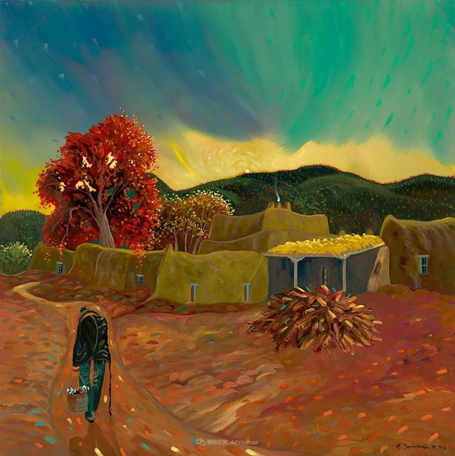 太美了,印象派和表现主义描绘的乡村景色插图53