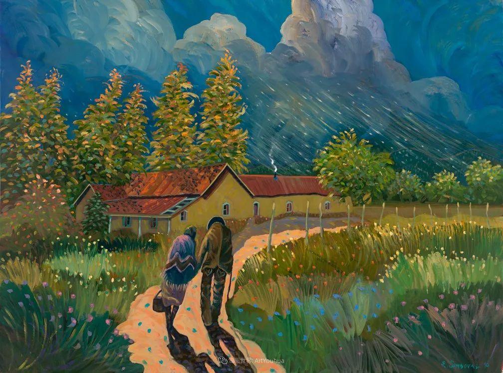太美了,印象派和表现主义描绘的乡村景色插图55