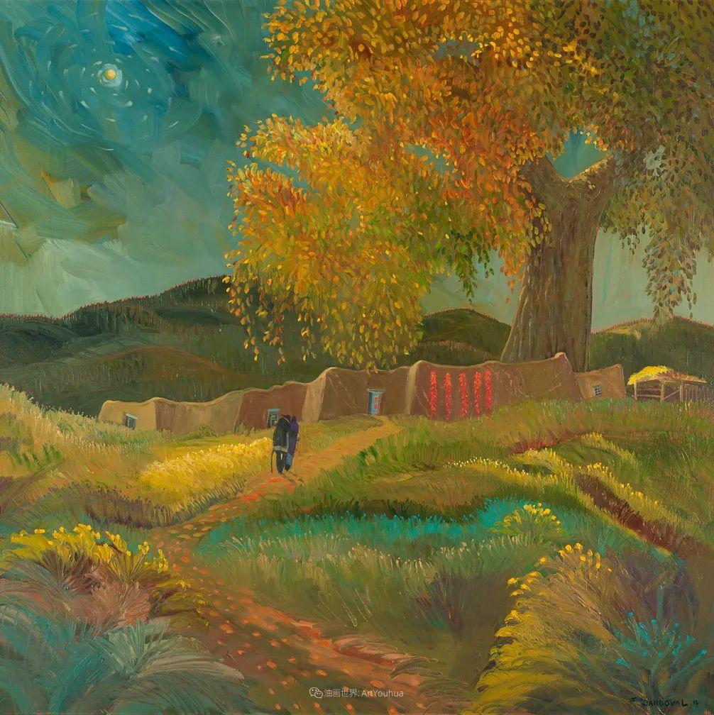 太美了,印象派和表现主义描绘的乡村景色插图57