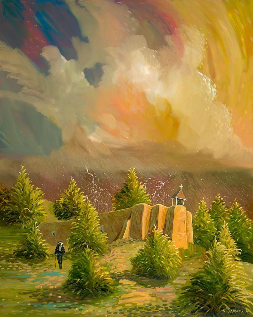 太美了,印象派和表现主义描绘的乡村景色插图59