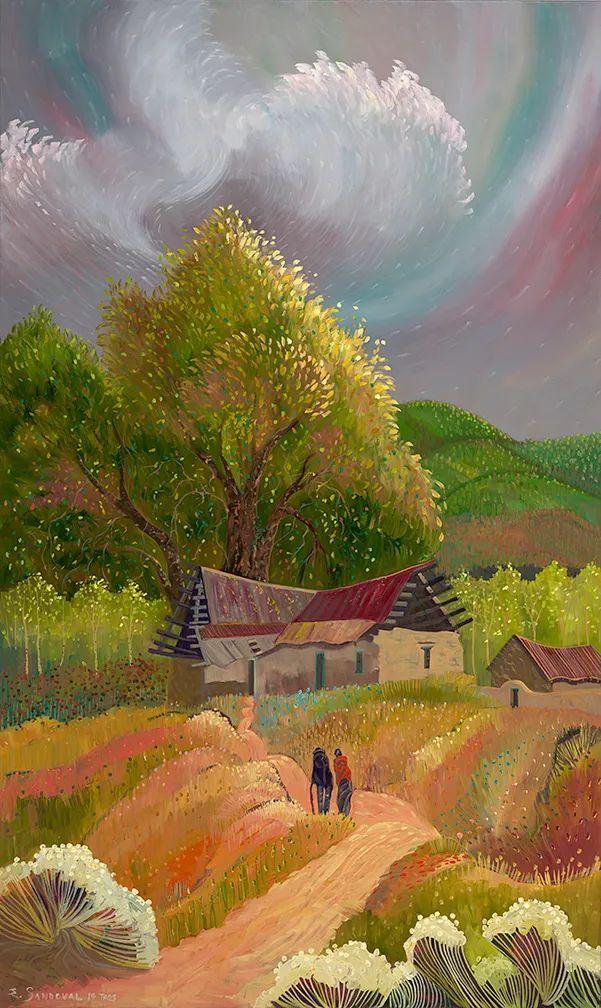 太美了,印象派和表现主义描绘的乡村景色插图67