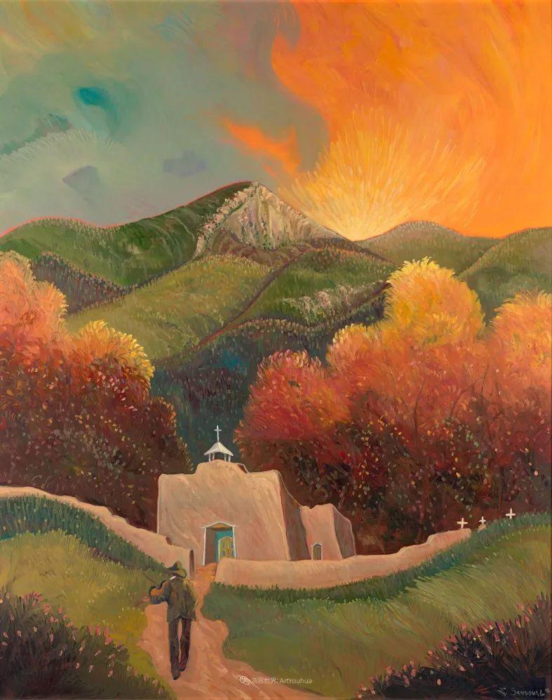 太美了,印象派和表现主义描绘的乡村景色插图69