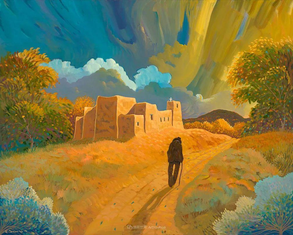 太美了,印象派和表现主义描绘的乡村景色插图77