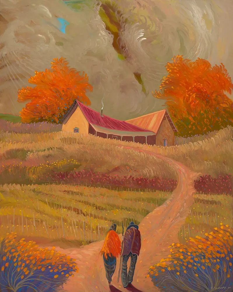 太美了,印象派和表现主义描绘的乡村景色插图79