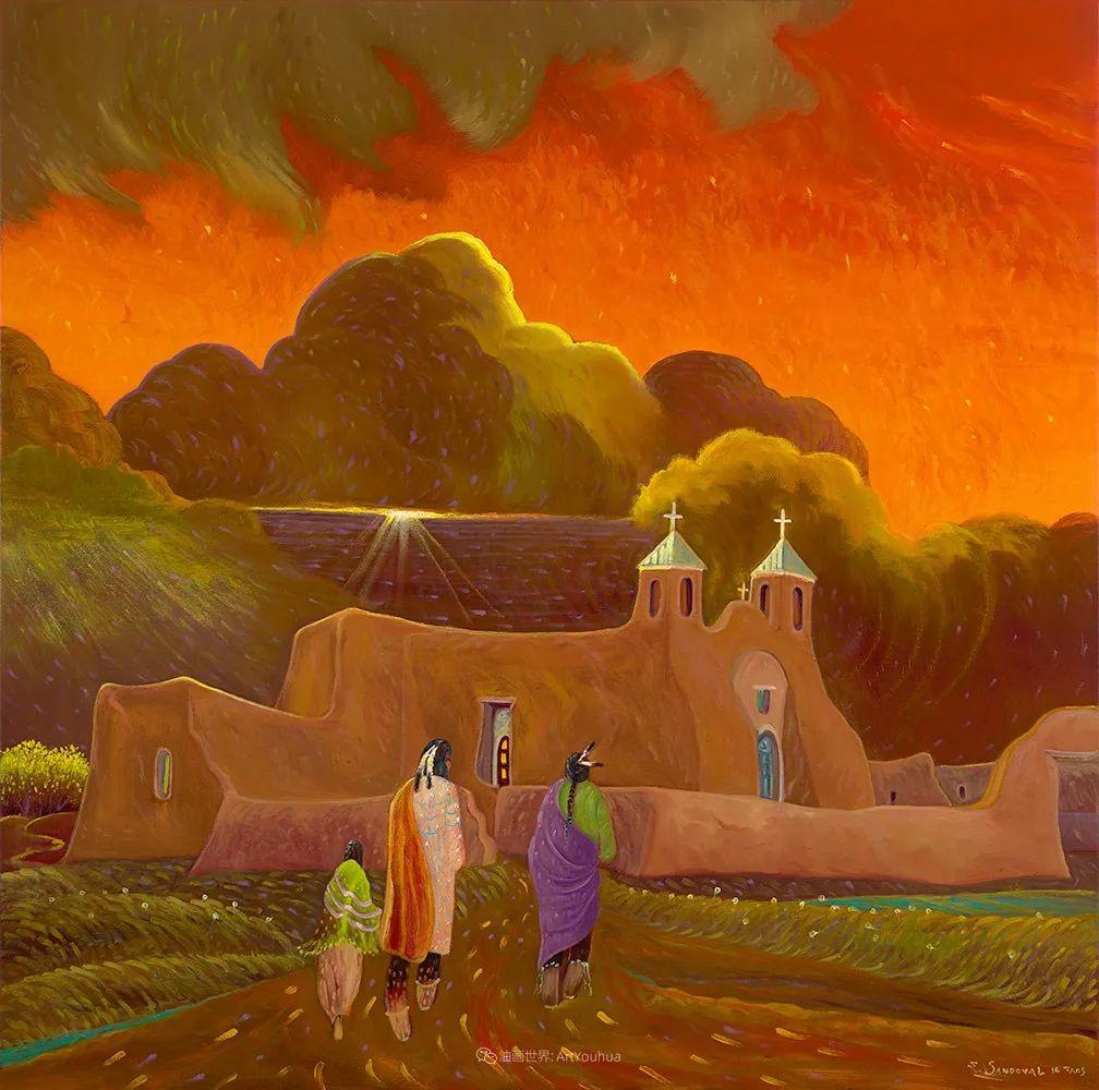 太美了,印象派和表现主义描绘的乡村景色插图83