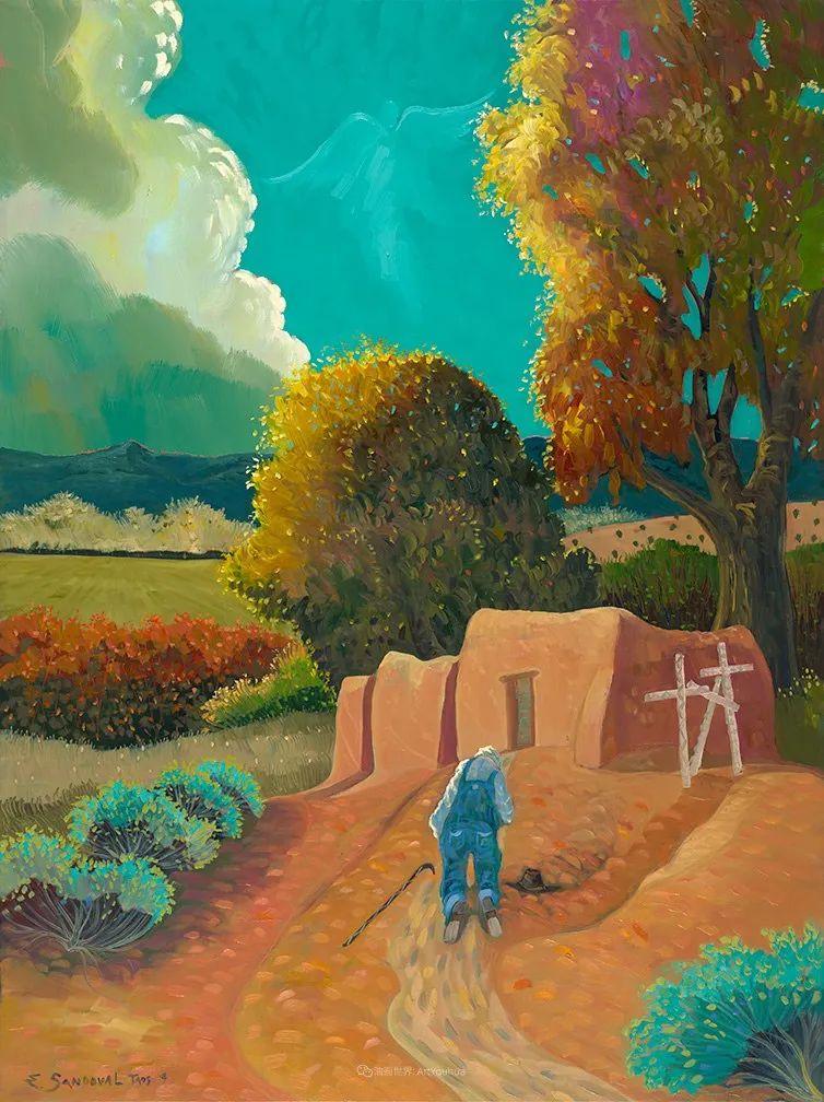 太美了,印象派和表现主义描绘的乡村景色插图85