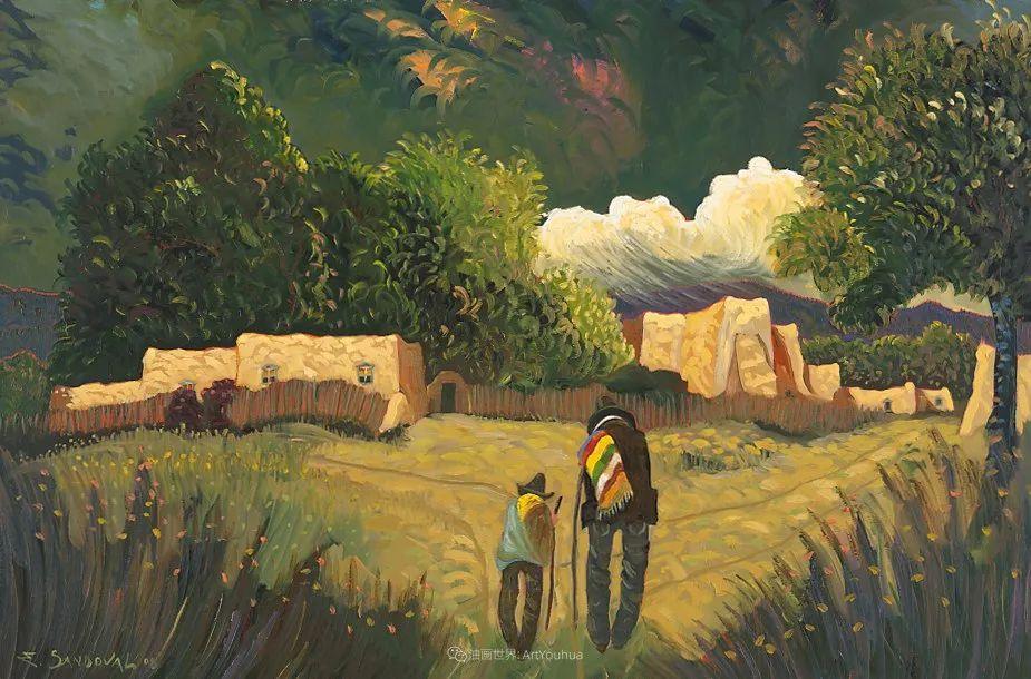 太美了,印象派和表现主义描绘的乡村景色插图87