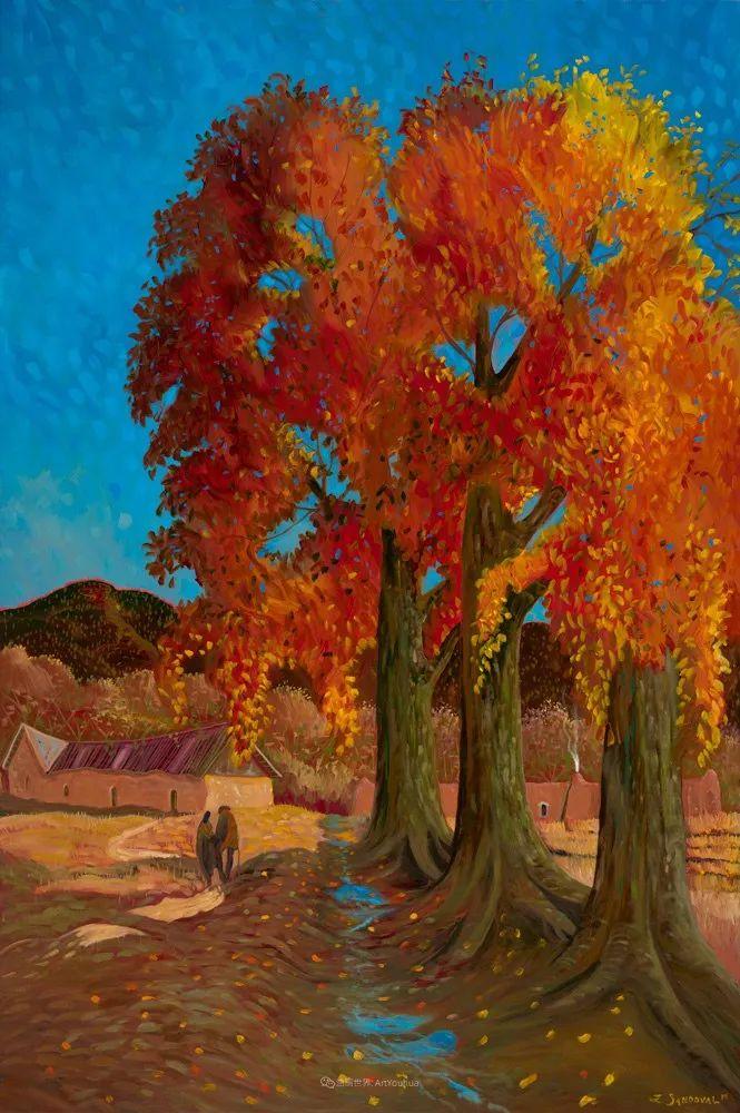 太美了,印象派和表现主义描绘的乡村景色插图89