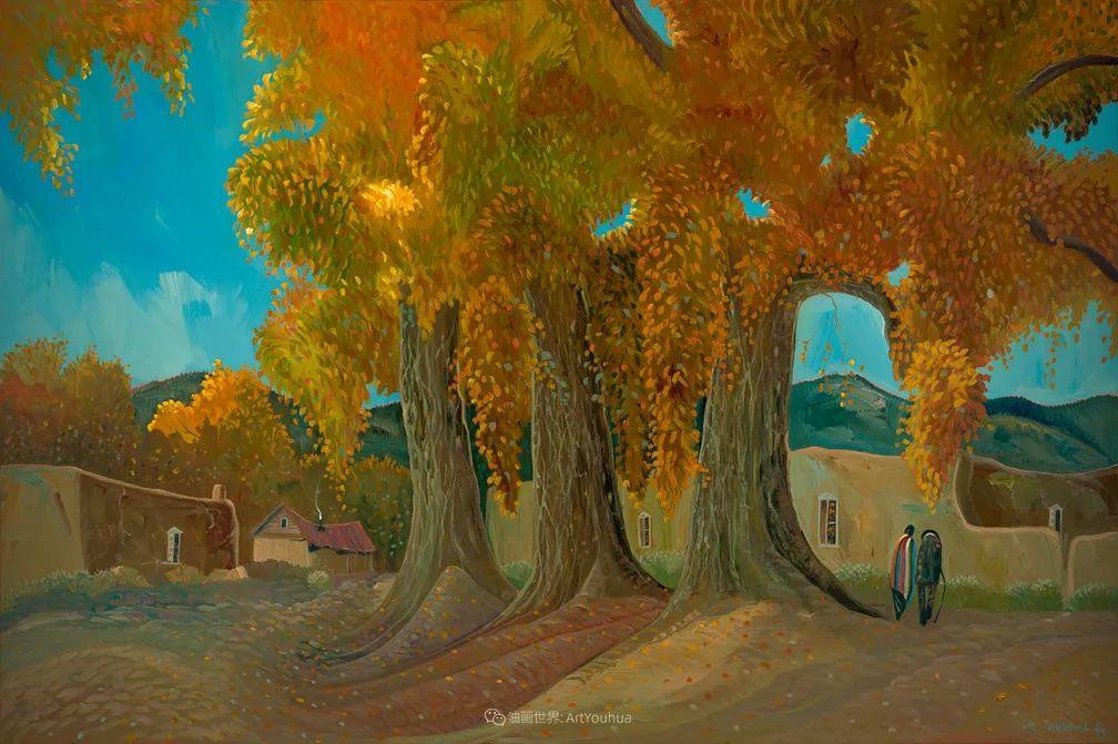 太美了,印象派和表现主义描绘的乡村景色插图93