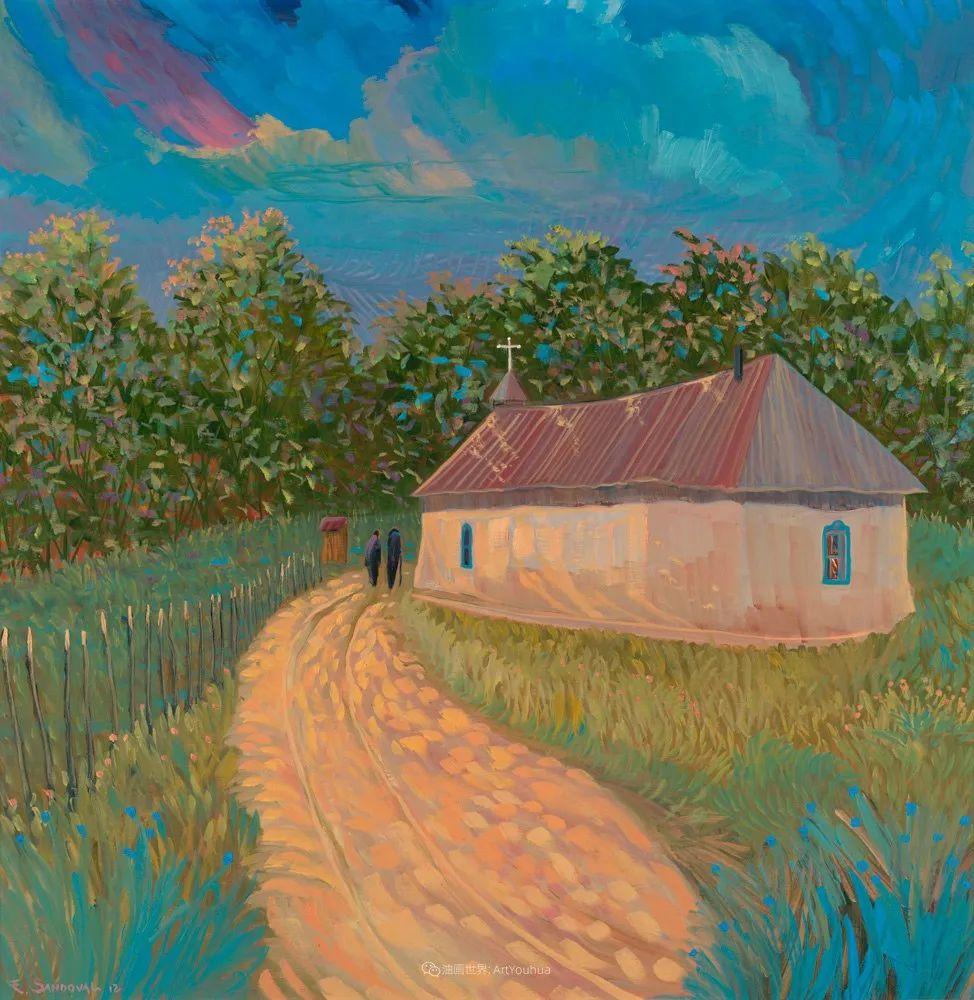 太美了,印象派和表现主义描绘的乡村景色插图95