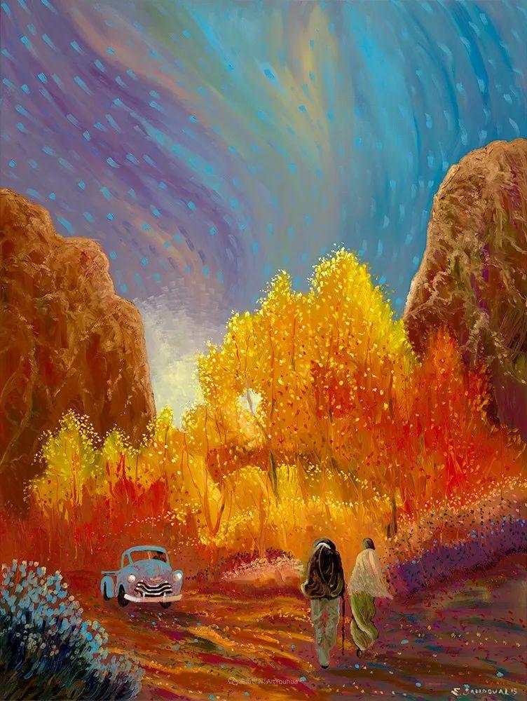 太美了,印象派和表现主义描绘的乡村景色插图97