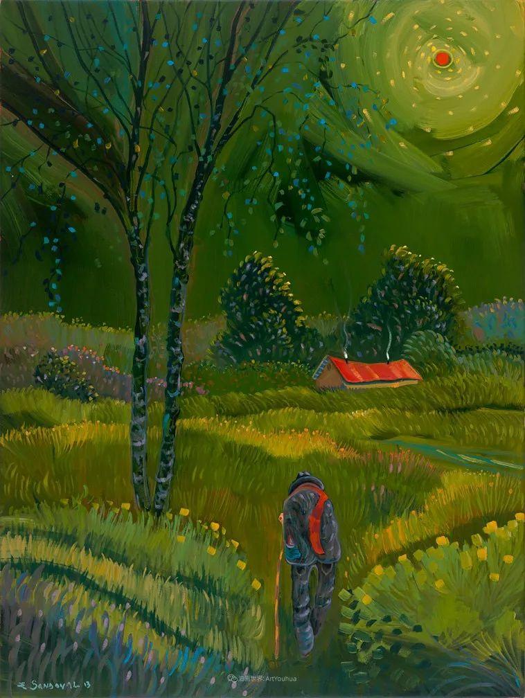 太美了,印象派和表现主义描绘的乡村景色插图103