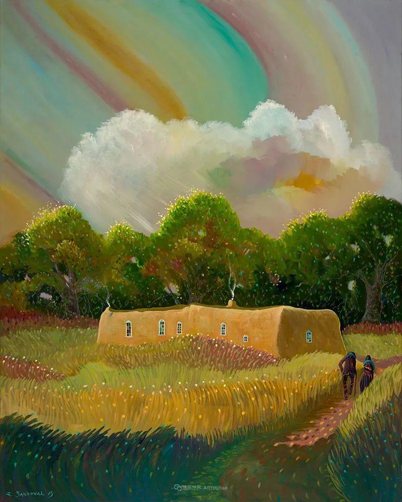 太美了,印象派和表现主义描绘的乡村景色插图107
