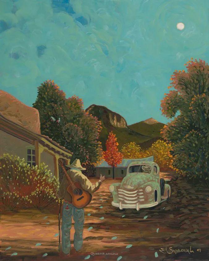 太美了,印象派和表现主义描绘的乡村景色插图109