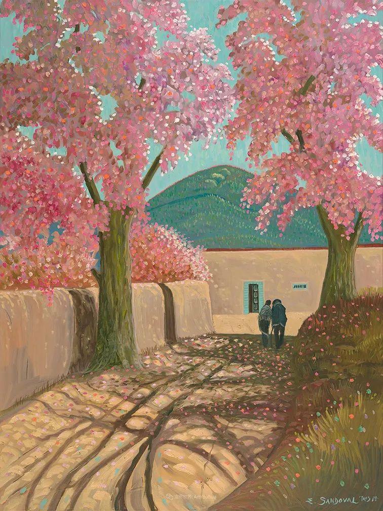 太美了,印象派和表现主义描绘的乡村景色插图111