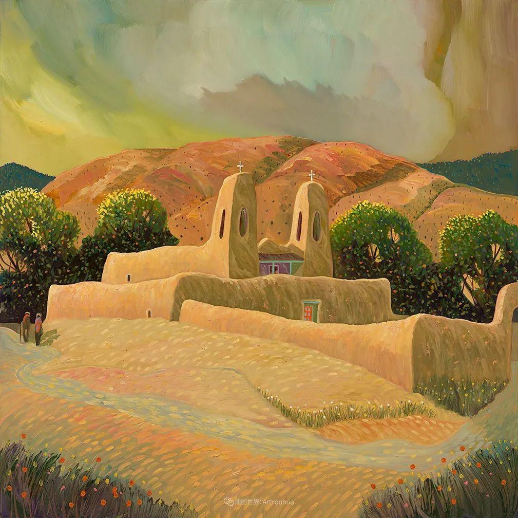 太美了,印象派和表现主义描绘的乡村景色插图113