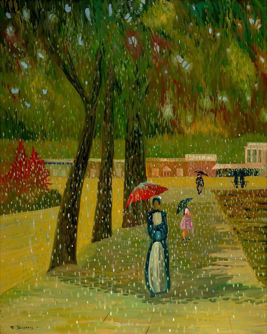 太美了,印象派和表现主义描绘的乡村景色插图119