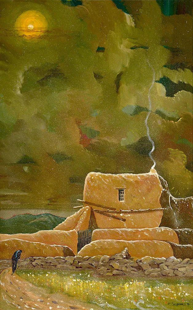 太美了,印象派和表现主义描绘的乡村景色插图125