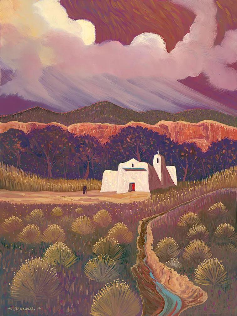 太美了,印象派和表现主义描绘的乡村景色插图127