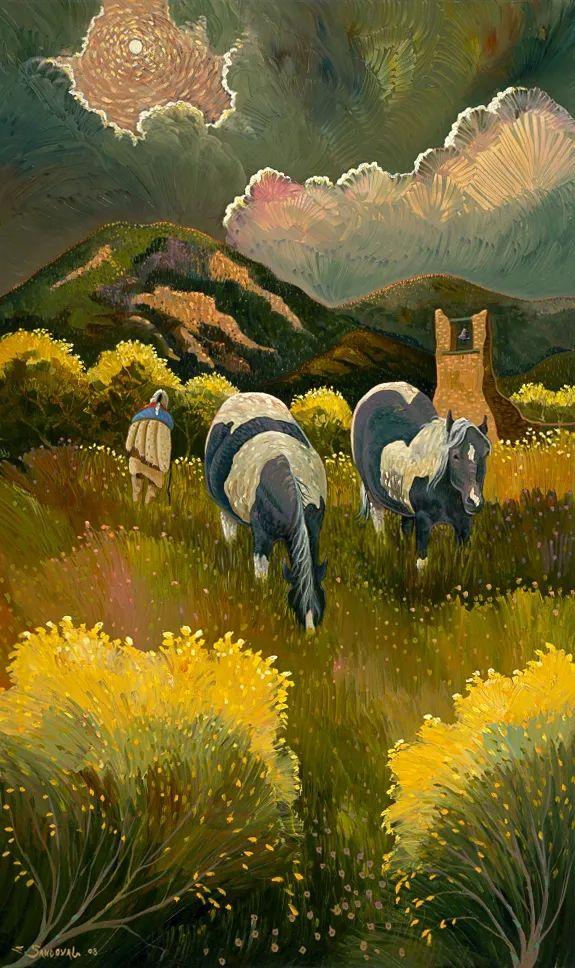 太美了,印象派和表现主义描绘的乡村景色插图143