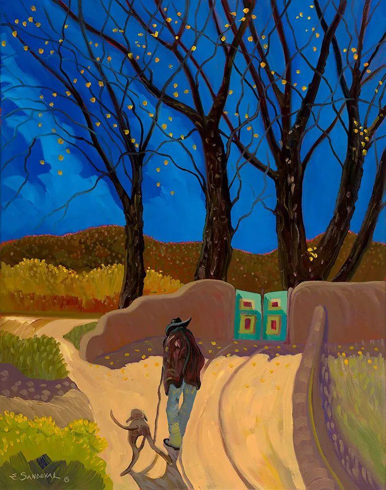 太美了,印象派和表现主义描绘的乡村景色插图145