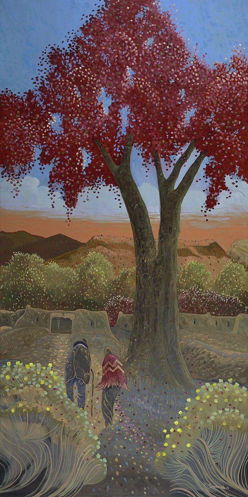 太美了,印象派和表现主义描绘的乡村景色插图147