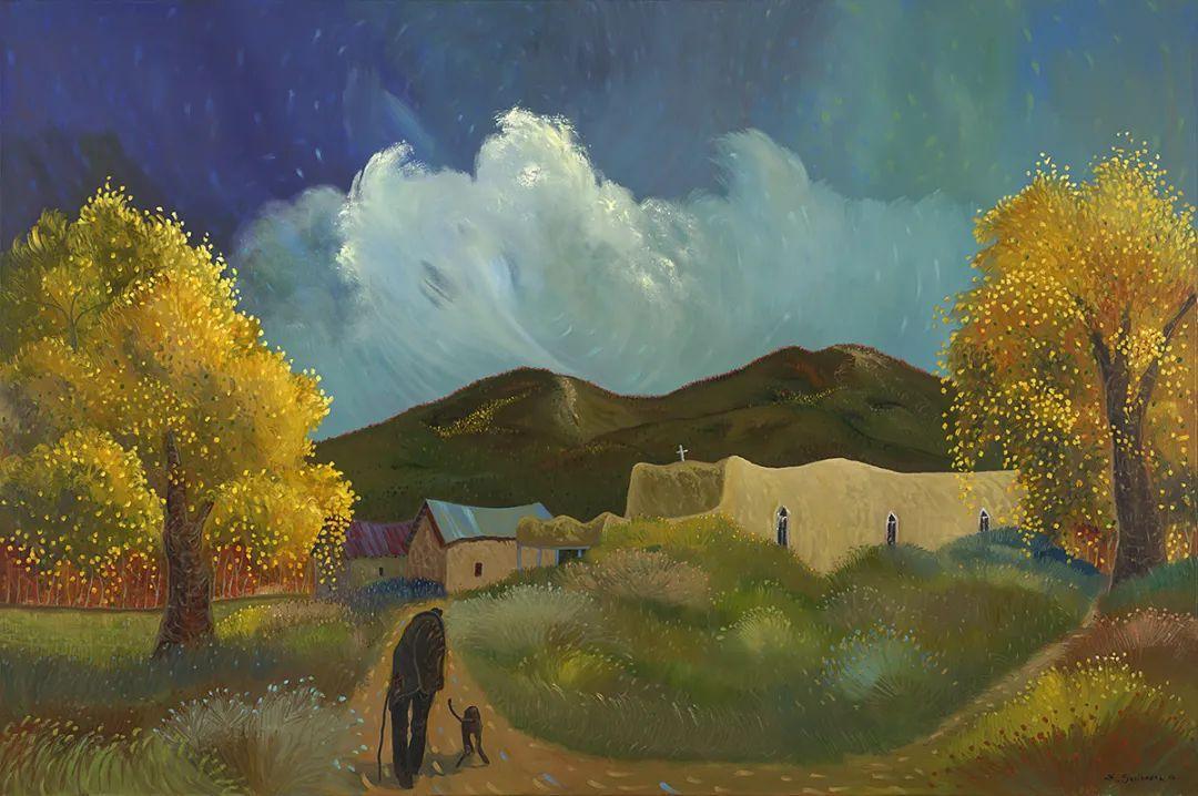太美了,印象派和表现主义描绘的乡村景色插图149